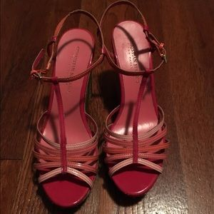 Christian Siriano Shoes - Pink Wedge Sandals
