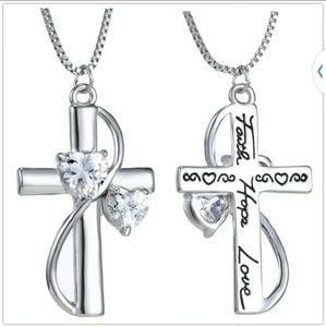 zdazzled Jewelry - Sale! CZ Crystal Cross Adjustable Necklace NW