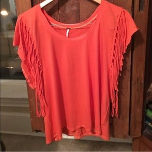 ❌$5 bundled!! Free People Fringed Top