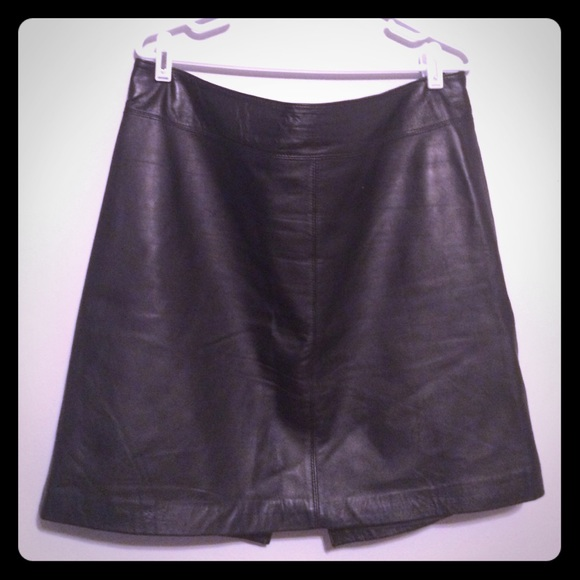 73% off Jaclyn Smith Dresses & Skirts - Lambskin Leather Skirt ...