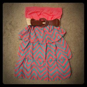 Super cute chevron strapless dress