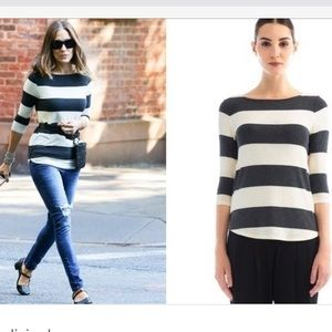 Three Dots Tops - New Three Dots Easy Fit 3/4 Sleeve Boatneck