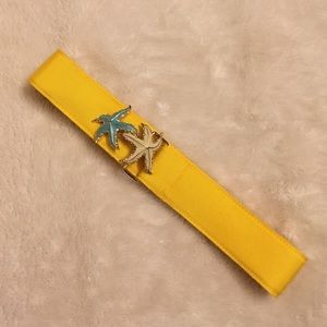 J Crew Yellow Starfish Belt Size S
