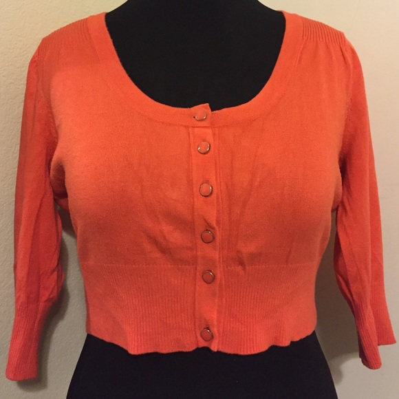 76% off torrid Sweaters - Orange cropped cardigan from Getsemani's ...