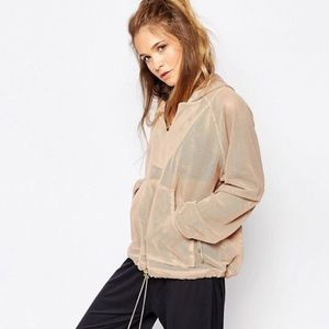 Free People Tops - Free People Mesh Just Breathe Billowing Hoodie