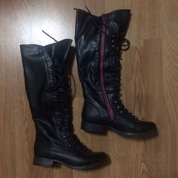 a6711ea3439ba3 Charlotte Russe Shoes - Charlotte Russe Knee High Combat Boots