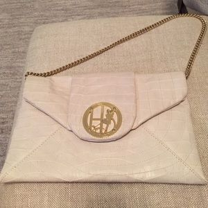 Henri Bendel White Leather Clutch
