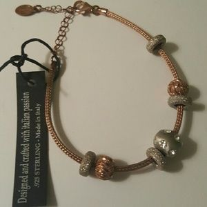 Dyadema Jewelry - Sterling silver and rosegold charm bracelet