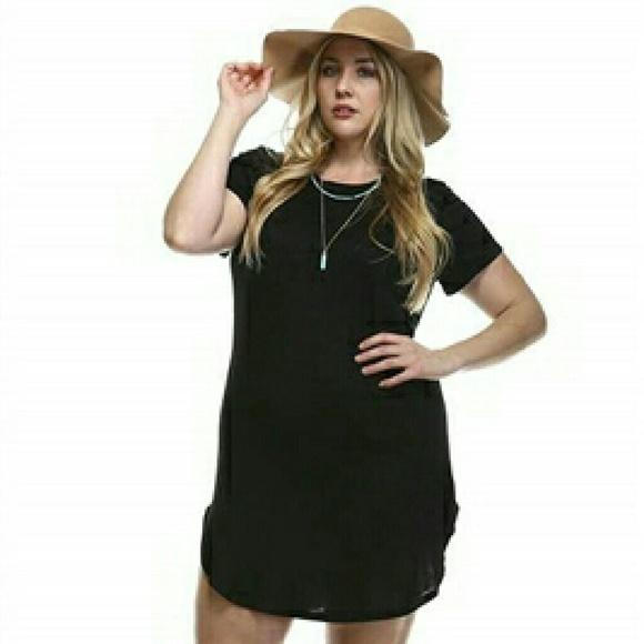 Plus Size Black Tunic Dress NWT