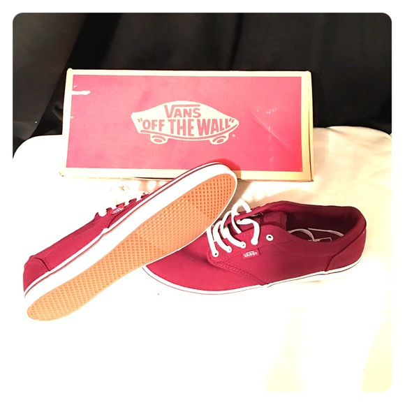 W Atwood Low Canvas Burgundy Vans 12f36ed85