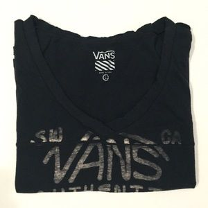 Vans Tops - [VANS] cropped vintage soft vneck tshirt szS-M