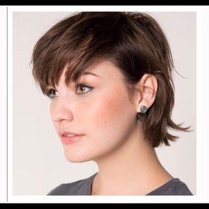 Half United Jewelry - Ali Silver Bullet Top Stud Earrings-Lowest Price