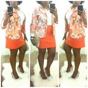 Ann Taylor Loft Jackets & Blazers - 💎NWOT °Ann Taylor Loft Coral Floral Blazer