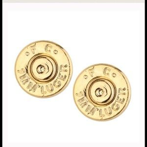 Half United Jewelry - Bullet Stud Earrings-Gold Plated-Lowest Price