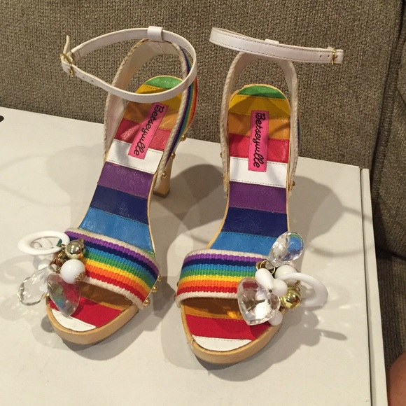 7416a459623902 Betsey Johnson Shoes - Betsey Johnson Betseyville Rainbow Heels