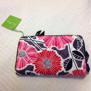 Vera Bradley Zip Around Wallet Cheery Blossoms
