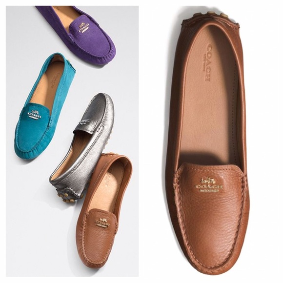 authentic competitive price hot sale NEW Coach Nancy pebbled leather loafers NWT
