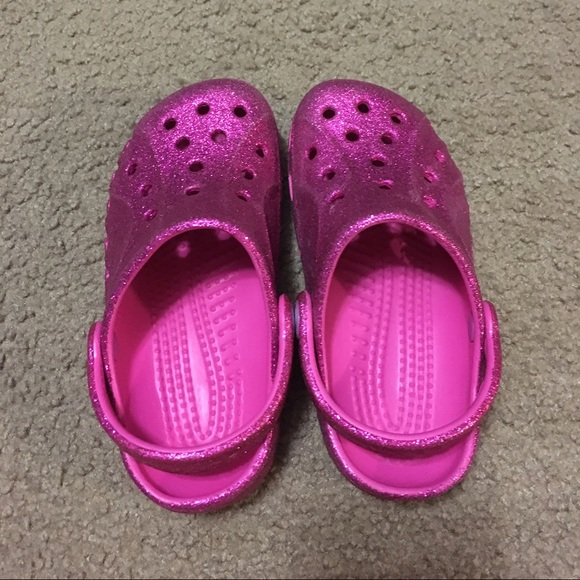 Crocs Shoes Pink Glitter Poshmark
