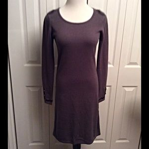 Andrew Marc Grey Sweater Dress
