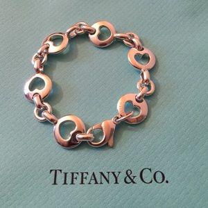 Vintage Tiffany open heart shaped bracelet.