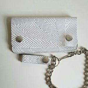 Wesc Handbags - The Gusten  Leather Chain Wallet by WESC