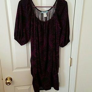 Dresses & Skirts - Plum Paisley Sweater Dress