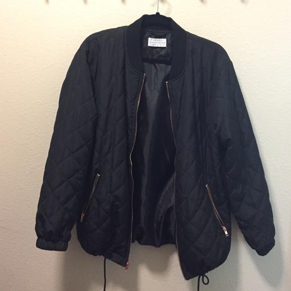 f106dd6a4 Kendall + Kylie Bomber Jacket w/ Rose Gold Zipper