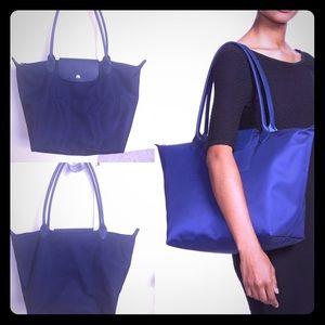 Large Navy Blue Longchamp Bag *Authentic*