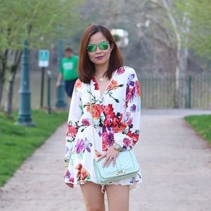 Super cute floral romper