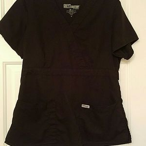 Tops - Black Medium greys anatomy scrub top