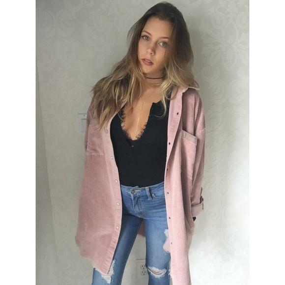 57% off Jackets & Blazers - SOLD     Dusty pink corduroy jacket ...
