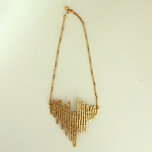 Gold Zig-Zag Necklace
