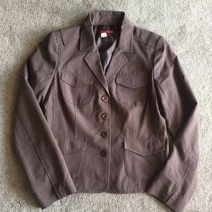 Tapemeasure Jackets & Blazers - Brown Pinstripe Blazer