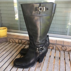 Harley Davidson Harness Knee High Leather Boots