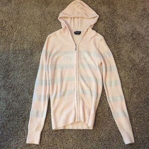 Ultra-soft Bebe logo zipper hoodie