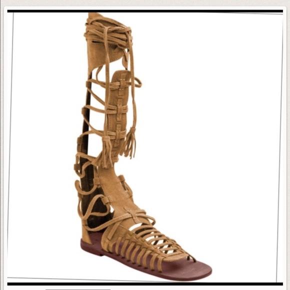 bb7550fb1dc Free People Shoes - Free People Sun Seeker Tall Gladiator Sandal 38