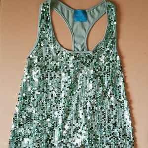 * Host Pick * Color Of Love Mint Sequin Tank