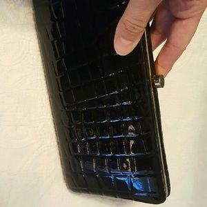 Perlina Accessories - Perlina  leather  black and gold wallet