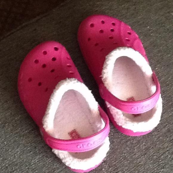 CROCS Shoes | Childs Fur Lined Crocs