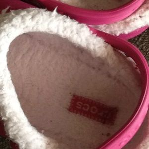 a96b796be9 CROCS Shoes - Childs fur lined Crocs beautiful hot pink color.