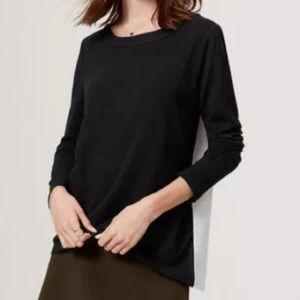 LOFT Tops - LOFT Mixed Media Sweater Top ~ Small