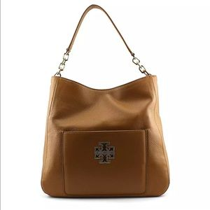 Tory Burch 'Britten' Brown (Bark) Leather Hobo Bag