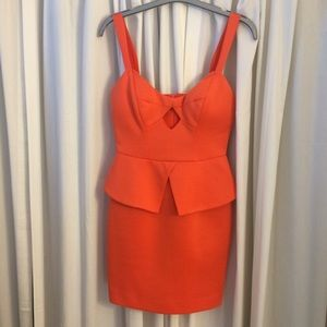 Ark & Co Dresses & Skirts - Ark & co Orange Peplum Dress