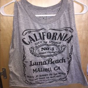 Luna beach California muscle tank