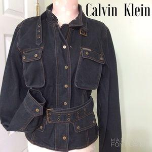 Calvin Klein Jeans Jackets & Blazers - ✨SALE✨Calvin Klein Black Military Denim Jacket