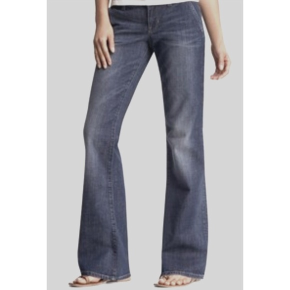 bebe Denim - BEBE Wide Leg Trouser Jeans 26 Denim