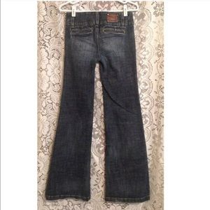bebe Jeans - BEBE Wide Leg Trouser Jeans 26 Denim