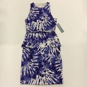 London Times Dresses - SALE❗️London Times Indigo Tie Dye Peplum Dress