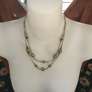 Brighton two toned with crystal necklace