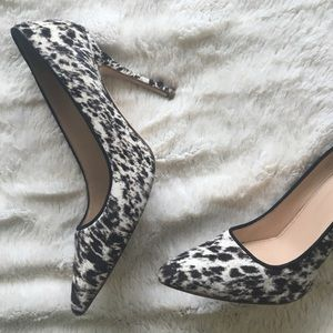 PRICE DROPJ.Crew Italian Leather Calf Hair Pumps